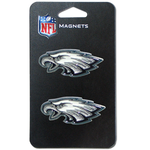 NFL Magnet Set - Philadelphia Eagles - Our NFL magnet set comes with 2 finely detailed zinc magnets that are hand enameled featuring your favorite NFL team's logo. Check out our entire line of  gifts! Officially licensed NFL product Licensee: Siskiyou Buckle .com