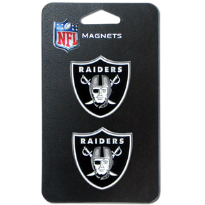NFL Magnet Set - Oakland Raiders - Our NFL magnet set comes with 2 finely detailed zinc magnets that are hand enameled featuring your favorite NFL team's logo. Check out our entire line of  gifts! Officially licensed NFL product Licensee: Siskiyou Buckle Thank you for visiting CrazedOutSports.com