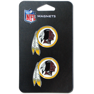NFL Magnet Set - Washington Redskins - Our NFL magnet set comes with 2 finely detailed zinc magnets that are hand enameled featuring your favorite NFL team's logo. Check out our entire line of  gifts! Officially licensed NFL product Licensee: Siskiyou Buckle Thank you for visiting CrazedOutSports.com