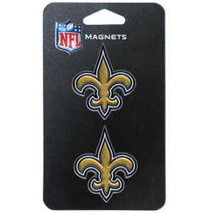 NFL Magnet Set - New Orleans Saints - Our NFL magnet set comes with 2 finely detailed zinc magnets that are hand enameled featuring your favorite NFL team's logo. Check out our entire line of  gifts!  Officially licensed NFL product Licensee: Siskiyou Buckle .com