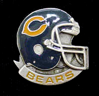 NFL Team Helmet Pin - Chicago Bears - Officially licensed NFL helmet pin featuring the Chicago Bears. Officially licensed NFL product Licensee: Siskiyou Buckle .com