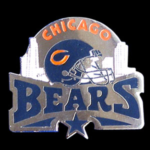 Glossy NFL Team Pin - Chicago Bears - High gloss NFL team pin featuring Chicago Bears. Officially licensed NFL product Licensee: Siskiyou Buckle .com