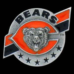 NFL Team Design Pin - Chicago Bears - Sculpted NFL team pin that features the Chicago Bears. Officially licensed NFL product Licensee: Siskiyou Buckle .com