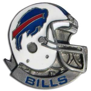NFL Team Helmet Pin - Buffalo Bills - Officially licensed NFL helmet pin featuring the Buffalo Bills. Officially licensed NFL product Licensee: Siskiyou Buckle Thank you for visiting CrazedOutSports.com