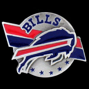 NFL Team Logo Pin - Buffalo Bills - Sculpted NFL team pin that features the Buffalo Bills. Officially licensed NFL product Licensee: Siskiyou Buckle .com