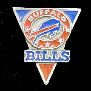 NFL Team Pin - Buffalo Bills - Sculpted NFL team pin that features the Buffalo Bills. Officially licensed NFL product Licensee: Siskiyou Buckle .com