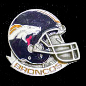 NFL Team Helmet Pin - Denver Broncos - Officially licensed NFL helmet pin featuring the Denver Broncos. Officially licensed NFL product Licensee: Siskiyou Buckle Thank you for visiting CrazedOutSports.com