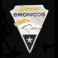 NFL Team Pin - Denver Broncos - Sculpted NFL team pin that features the Denver Broncos. Officially licensed NFL product Licensee: Siskiyou Buckle Thank you for visiting CrazedOutSports.com
