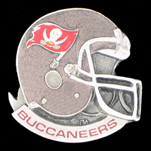 NFL Team Helmet Pin - Tampa Bay Buccaneers - Officially licensed NFL helmet pin featuring the Tampa Bay Buccaneers. Officially licensed NFL product Licensee: Siskiyou Buckle .com