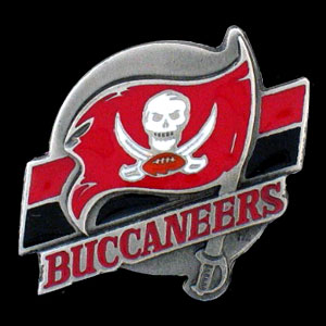 NFL Team Logo Pin - Tampa Bay Buccaneers - Sculpted NFL team pin that features the Tampa Bay Buccaneers. Officially licensed NFL product Licensee: Siskiyou Buckle .com