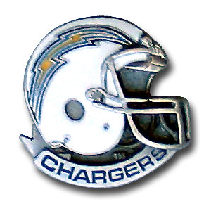 NFL Team Helmet Pin - San Diego Chargers - Officially licensed NFL helmet pin featuring the San Diego Chargers. Officially licensed NFL product Licensee: Siskiyou Buckle .com