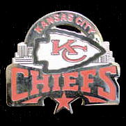 Glossy NFL Team Pin - Kansas City Chiefs - High gloss NFL team pin featuring Kansas City Chiefs. Officially licensed NFL product Licensee: Siskiyou Buckle Thank you for visiting CrazedOutSports.com