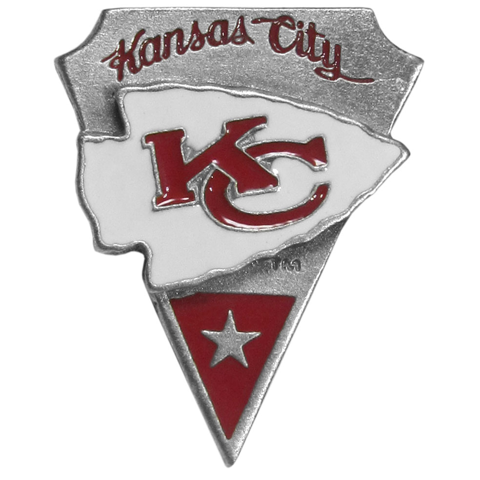 NFL Pin - Kansas City Chiefs - Officially licensed NFL lapel pin.