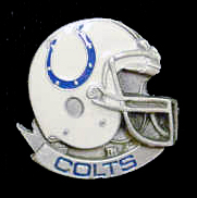 NFL Team Helmet Pin - Indianapolis Colts - Officially licensed NFL helmet pin featuring the Indianapolis Colts. Officially licensed NFL product Licensee: Siskiyou Buckle Thank you for visiting CrazedOutSports.com