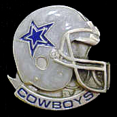 NFL Team Helmet Pin - Dallas Cowboys - Officially licensed NFL helmet pin featuring the Dallas Cowboys. Officially licensed NFL product Licensee: Siskiyou Buckle Thank you for visiting CrazedOutSports.com