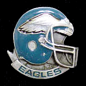 NFL Team Helmet Pin - Philadelphia Eagles - Officially licensed NFL helmet pin featuring the Philadelphia Eagles. Officially licensed NFL product Licensee: Siskiyou Buckle .com