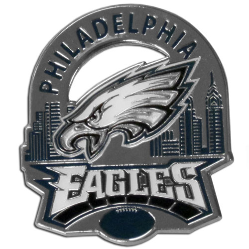 Glossy NFL Team Pin - Philadelphia Eagles - High gloss NFL team pin featuring Philadelphia Eagles. Officially licensed NFL product Licensee: Siskiyou Buckle .com