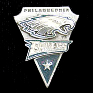 NFL Team Pin - Philadelphia Eagles - Sculpted NFL team pin that features the Philadelphia Eagles. Officially licensed NFL product Licensee: Siskiyou Buckle .com