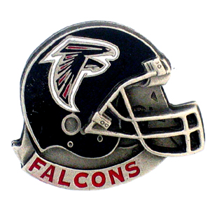 NFL Team Helmet Pin - Atlanta Falcons - Officially licensed NFL helmet pin featuring the Atlanta Falcons. Officially licensed NFL product Licensee: Siskiyou Buckle .com