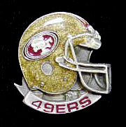 NFL Team Helmet Pin - San Francisco 49ers - Officially licensed NFL helmet pin featuring the San Francisco 49ers. Officially licensed NFL product Licensee: Siskiyou Buckle .com