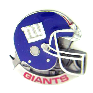 NFL Team Helmet Pin - New York Giants - Officially licensed NFL helmet pin featuring the New York Giants. Officially licensed NFL product Licensee: Siskiyou Buckle .com