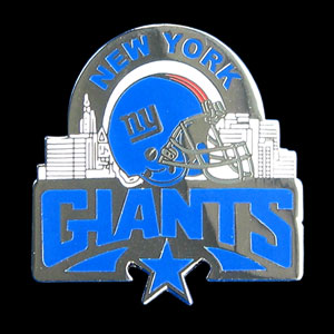 Glossy NFL Team Pin - New York Giants - High gloss NFL team pin featuring New York Giants. Officially licensed NFL product Licensee: Siskiyou Buckle Thank you for visiting CrazedOutSports.com