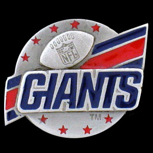 NFL Team Logo Pin - New York Giants - Sculpted NFL team pin that features the New York Giants. Officially licensed NFL product Licensee: Siskiyou Buckle Thank you for visiting CrazedOutSports.com