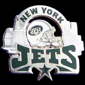 Glossy NFL Team Pin - New York Jets - High gloss NFL team pin featuring New York Jets. Officially licensed NFL product Licensee: Siskiyou Buckle Thank you for visiting CrazedOutSports.com