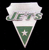 NFL Team Pin - New York Jets - Sculpted NFL team pin that features the New York Jets. Officially licensed NFL product Licensee: Siskiyou Buckle Thank you for visiting CrazedOutSports.com