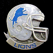 NFL Team Helmet Pin - Detroit Lions - Officially licensed NFL helmet pin featuring the Detroit Lions. Officially licensed NFL product Licensee: Siskiyou Buckle .com