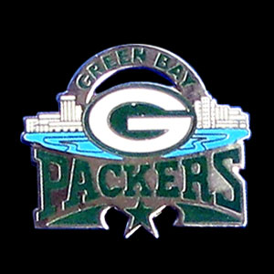 Glossy NFL Team Pin - Green Bay Packers - High gloss NFL team pin featuring Green Bay Packers. Officially licensed NFL product Licensee: Siskiyou Buckle .com