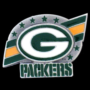 NFL Team Logo Pin - Green Bay Packers - Sculpted NFL team pin that features the Green Bay Packers. Officially licensed NFL product Licensee: Siskiyou Buckle Thank you for visiting CrazedOutSports.com