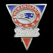 NFL Team Pin - New England Patriots - Sculpted NFL team pin that features the New England Patriots. Officially licensed NFL product Licensee: Siskiyou Buckle .com