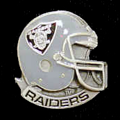 NFL Team Helmet Pin - Oakland Raiders - Officially licensed NFL helmet pin featuring the Oakland Raiders. Officially licensed NFL product Licensee: Siskiyou Buckle Thank you for visiting CrazedOutSports.com