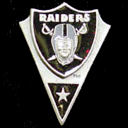 NFL Team Pin - Oakland Raiders - Sculpted NFL team pin that features the Oakland Raiders. Officially licensed NFL product Licensee: Siskiyou Buckle Thank you for visiting CrazedOutSports.com