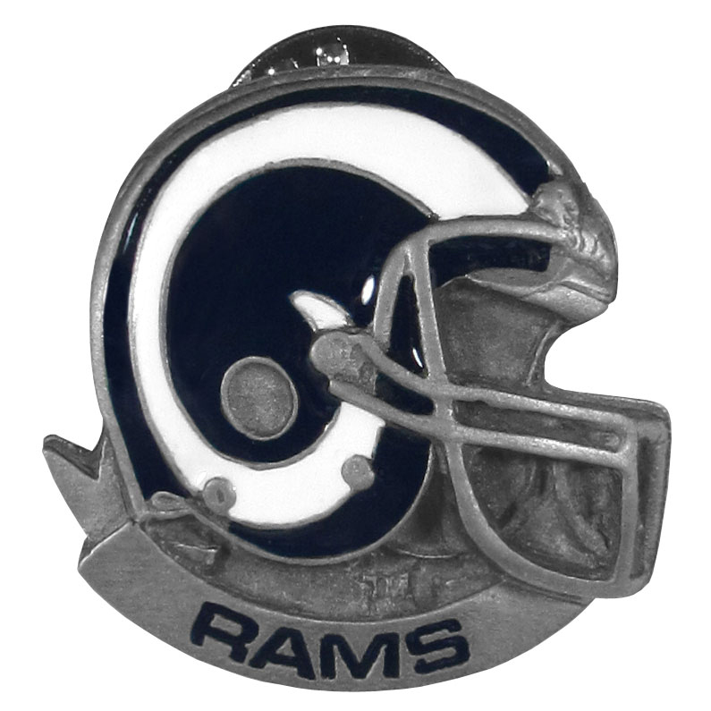 Los Angeles Rams Team Pin - Expertly crafted metal lapel pin that is fully cast with fine detail and a Los Angeles Rams design