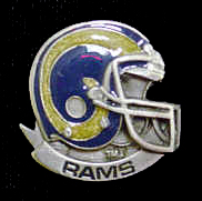 NFL Team Helmet Pin - St. Louis Rams - Officially licensed NFL helmet pin featuring the St. Louis Rams. Officially licensed NFL product Licensee: Siskiyou Buckle Thank you for visiting CrazedOutSports.com