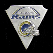 NFL Team Pin - St. Louis Rams - Sculpted NFL team pin that features the St. Louis Rams. Officially licensed NFL product Licensee: Siskiyou Buckle .com