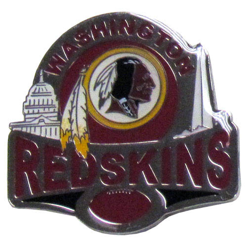 Glossy NFL Team Pin - Washington Redskins - High gloss NFL team pin featuring Washington Redskins. Officially licensed NFL product Licensee: Siskiyou Buckle Thank you for visiting CrazedOutSports.com