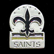 NFL Team Logo Pin - New Orleans Saints - Sculpted NFL team pin that features the New Orleans Saints. Officially licensed NFL product Licensee: Siskiyou Buckle .com