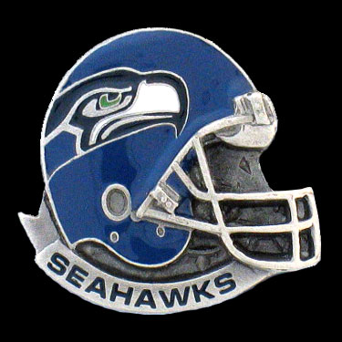 NFL Team Helmet Pin - Seattle Seahawks - Officially licensed NFL helmet pin featuring the Seattle Seahawks. Officially licensed NFL product Licensee: Siskiyou Buckle Thank you for visiting CrazedOutSports.com