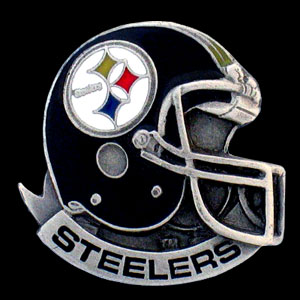 NFL Team Helmet Pin - Pittsburgh Steelers - Officially licensed NFL helmet pin featuring the Pittsburgh Steelers. Officially licensed NFL product Licensee: Siskiyou Buckle .com