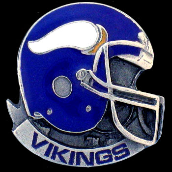 NFL Team Helmet Pin - Minnesota Vikings - Officially licensed NFL helmet pin featuring the Minnesota Vikings. Officially licensed NFL product Licensee: Siskiyou Buckle .com