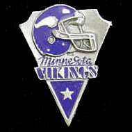 NFL Team Pin - Minnesota Vikings - Sculpted NFL team pin that features the Minnesota Vikings. Officially licensed NFL product Licensee: Siskiyou Buckle .com