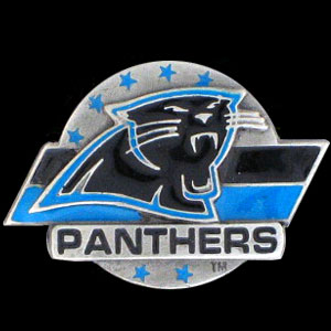 NFL Team Logo Pin - Carolina Panthers - Sculpted NFL team pin that features the Carolina Panthers. Officially licensed NFL product Licensee: Siskiyou Buckle .com