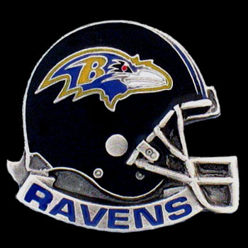 NFL Team Helmet Pin - Baltimore Ravens - Officially licensed NFL helmet pin featuring the Baltimore Ravens. Officially licensed NFL product Licensee: Siskiyou Buckle Thank you for visiting CrazedOutSports.com
