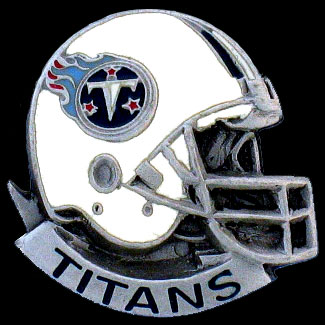 NFL Team Helmet Pin - Tennessee Titans - Officially licensed NFL helmet pin featuring the Tennessee Titans. Officially licensed NFL product Licensee: Siskiyou Buckle .com