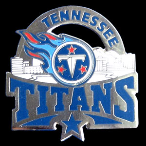 Glossy NFL Team Pin - Tennessee Titans - High gloss NFL team pin featuring Tennessee Titans. Officially licensed NFL product Licensee: Siskiyou Buckle .com