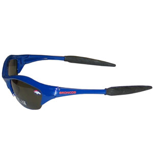 NFL Sunglasses - Denver Broncos - Our sporty looking NFL sunglasses have the sports team logo screen printed both sides of the frames. The sunglass arms feature rubber team colored accents.  Look great in our sports memorabilia while rooting for your favorite sports team. Officially licensed NFL product Licensee: Siskiyou Buckle Thank you for visiting CrazedOutSports.com