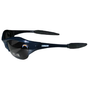 NFL Sunglasses - San Diego Chargers - Our sporty looking NFL sunglasses have the sports team logo screen printed both sides of the frames. The sunglass arms feature rubber team colored accents.  Look great in our sports memorabilia while rooting for your favorite sports team. Officially licensed NFL product Licensee: Siskiyou Buckle .com